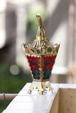 Egyptian lantern. On balcony wall - fanous Ramadan Royalty Free Stock Photos