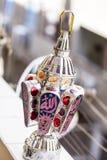 Egyptian lantern. On balcony wall - fanous Ramadan Stock Images