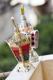 Egyptian lantern. On balcony wall - fanous Ramadan Royalty Free Stock Photography