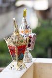 Egyptian lantern. Two Egyptian lantern on balcony wall - fanous Ramadan Stock Images