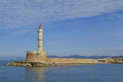 The Egyptian Lighthouse at Old Harbour, Chania, Crete, Greece Royalty Free Stock Image