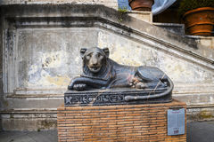 Egyptian Lion in the Gardens of the Vatican Museums in Rome Italy. Rome Italy, the Eternal city, which has been a destination for tourists since the times of the Royalty Free Stock Images