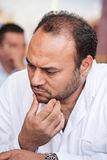 Egyptian man. Portrait of a mid age egyptian man with a worried look Stock Photos