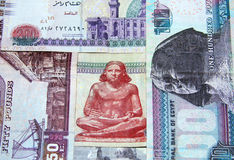 Egyptian money Royalty Free Stock Photography