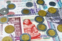 Egyptian money Royalty Free Stock Photo