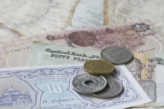 Egyptian money Stock Images
