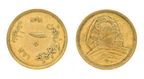 Egyptian money - pounds and piasters Royalty Free Stock Photos