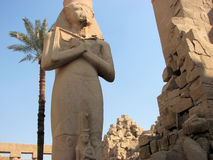 Egyptian monument. Wonderful Statue in Luxor temples Egypt Stock Images