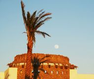 Egyptian moon. And hotels construction Stock Photography