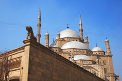 Egyptian Mosque. The Saladin Citadel of Cairo (Mohamed Ali Mosque), Egypt Stock Photography