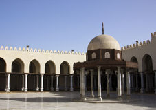 EGYPTIAN MOSQUE. A tranquil Islamic Mosque in Damietta, Egypt,with blue sky Royalty Free Stock Photography