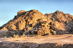 Egyptian  mountain  stone rock  desert Stock Photo