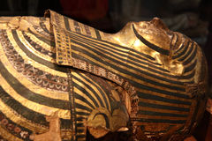 Egyptian mummy. This wonderfully preserved mummy shown in all it's glory still royalty free stock image