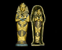 Egyptian Mummy. An Egyptian mummy knick knack on a black background Royalty Free Stock Image