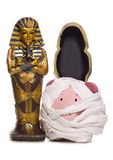 Egyptian mummy piggy bank cut out Stock Photo