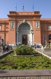 Egyptian Museum of Antiquities Cairo, Egypt Travel. Egyptian Museum of Antiquities in Cairo, Egypt, exterior scene. Egypt is a popular travel destination for stock photo