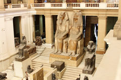 The egyptian museum from inside in cairo in egypt in africa  Royalty Free Stock Images
