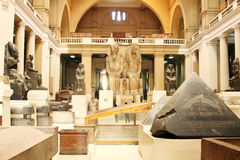 The egyptian museum from inside in cairo in egypt in africa  Royalty Free Stock Photography