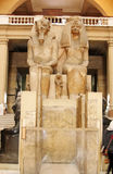 The egyptian museum from inside in cairo in egypt in africa  Royalty Free Stock Photo