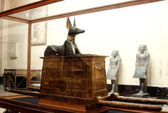 The egyptian museum from inside in cairo in egypt in africa  Royalty Free Stock Photos