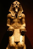 Egyptian museum in Turin. Ancient statue of Egyptian god, Turin, Italy Royalty Free Stock Photo