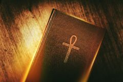 Egyptian Mystery Ankh Book Stock Image
