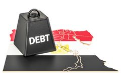Egyptian national debt or budget deficit, financial crisis conce. Pt, 3D Royalty Free Stock Photography