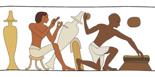 Egyptian national drawing. Royalty Free Stock Photography