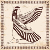 Egyptian national drawing. royalty free illustration