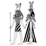 Egyptian national drawing. Vector illustration of Egyptian national drawing. Goddess Isis and Queen Nefertari Royalty Free Stock Image