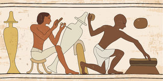 Egyptian national drawing. Stock Photo