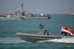 The Egyptian navy celebrating the revelotion royalty free stock photos
