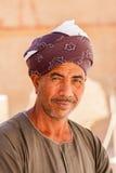 Egyptian near Abu Simbel Temple, Egypt. Egyptian guide ear Abu Simbel Temple, Egypt Stock Photography