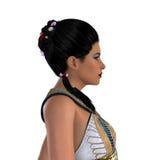 Egyptian Nefertiti with Hair Royalty Free Stock Photos