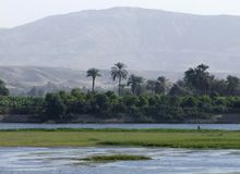 Egyptian Nile coast scenery Stock Photo