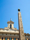 Egyptian Obelisk, Piazza di Montecitorio, Rome Royalty Free Stock Photography