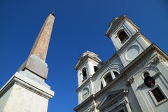 Egyptian Obelisk in Piazza di Spagna Stock Photography