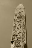 Egyptian obelisk in sepia Royalty Free Stock Images