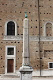 Egyptian obelisk in Urbino Stock Photo