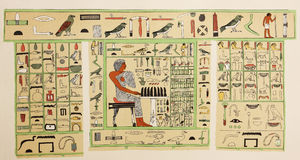 Egyptian old writing symbols Stock Photo
