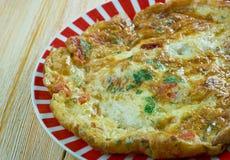 Egyptian Omelette. Eggah - Egyptian Omelette.ood genre within Arab cuisine royalty free stock image