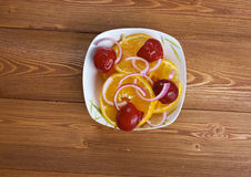 Egyptian orange salad Stock Image