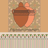 Egyptian ornament with jars Royalty Free Stock Image