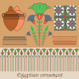 Egyptian ornament with plants Royalty Free Stock Image