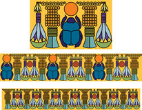 Egyptian ornament with a scarab. Antique pattern. Illustration Royalty Free Illustration