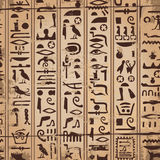 Egyptian ornaments and hieroglyphs Stock Photos