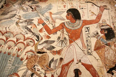 Egyptian painted art stock photo