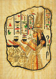 Egyptian painting. Ancient egyptian painting on papyrus Royalty Free Stock Photography