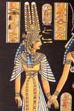 Egyptian painting on papyrus. Ancient Egyptian hand painting on papyrus Royalty Free Stock Photos