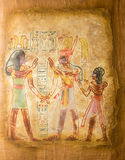 Egyptian painting on papyrus Royalty Free Stock Photography